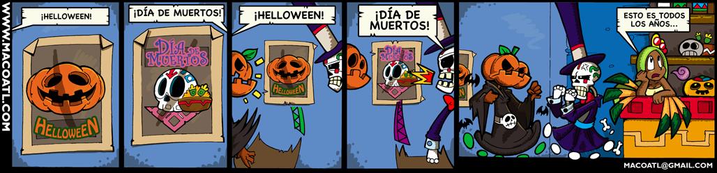 Halloween ó dia de Muertos Portada